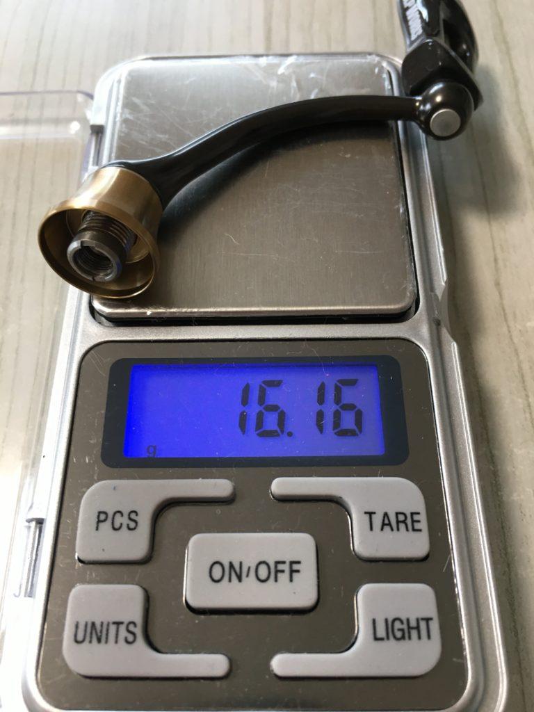 バリスティック ハンドル重量