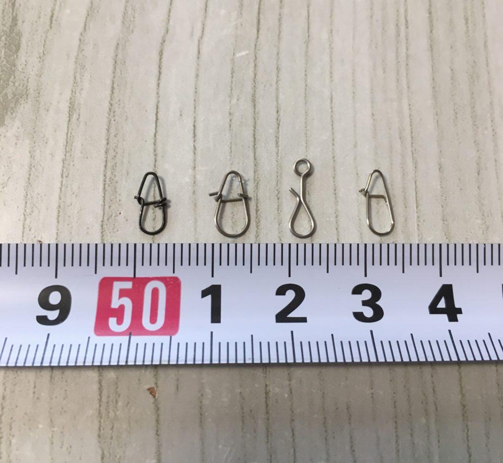 各メーカースナップ比較サイズ