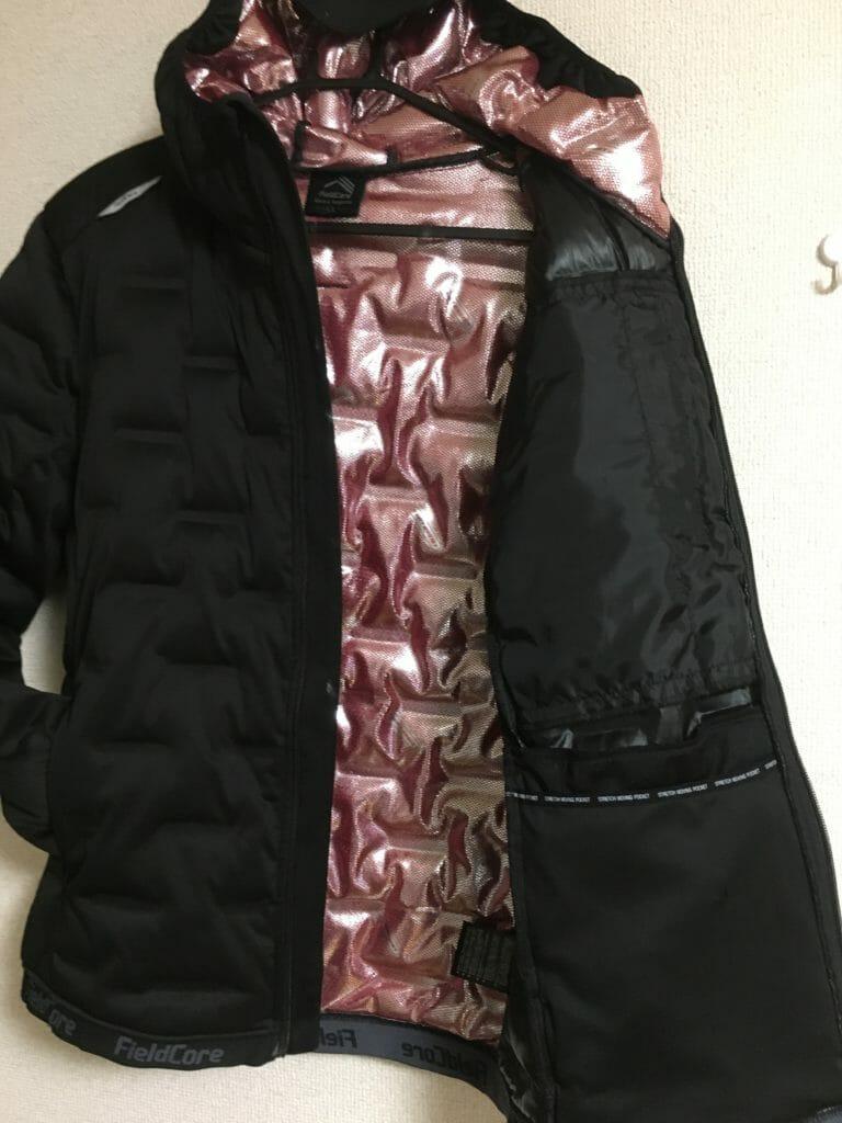 ワークマン女子 fieldcore アルティメットフーデッド 防寒 管釣り 冬 ケベック コスパ 大人気 ワークマンプラス