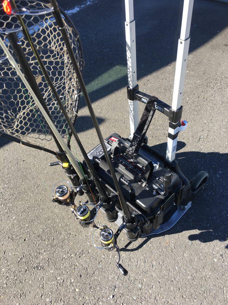キャリーカート マグナカート タックル持ち運び プラノ1612 重いプールフィッシング 川越水上公園 さいたま水上公園 はなさき水上公園 西武園