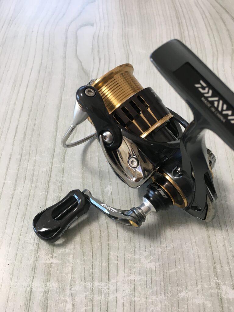 ハンドルカスタ ムdlive エアーステア 33mm 38mm 40mm 45mm zpi ファンネル livre iosファクトリー 貧乏釣り部 しもきん 管釣りってなんだ ポテポテ 縦釣り 巻き グリーン